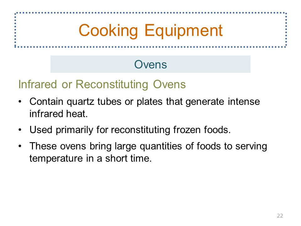 Cooking Equipment Ovens Infrared or Reconstituting Ovens