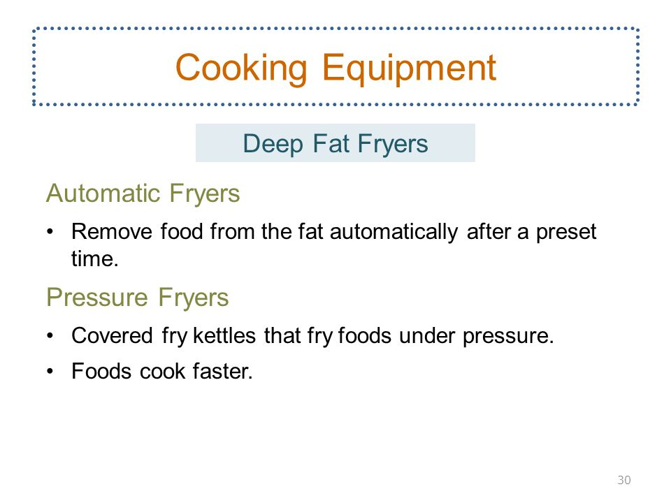 Cooking Equipment Deep Fat Fryers Automatic Fryers Pressure Fryers