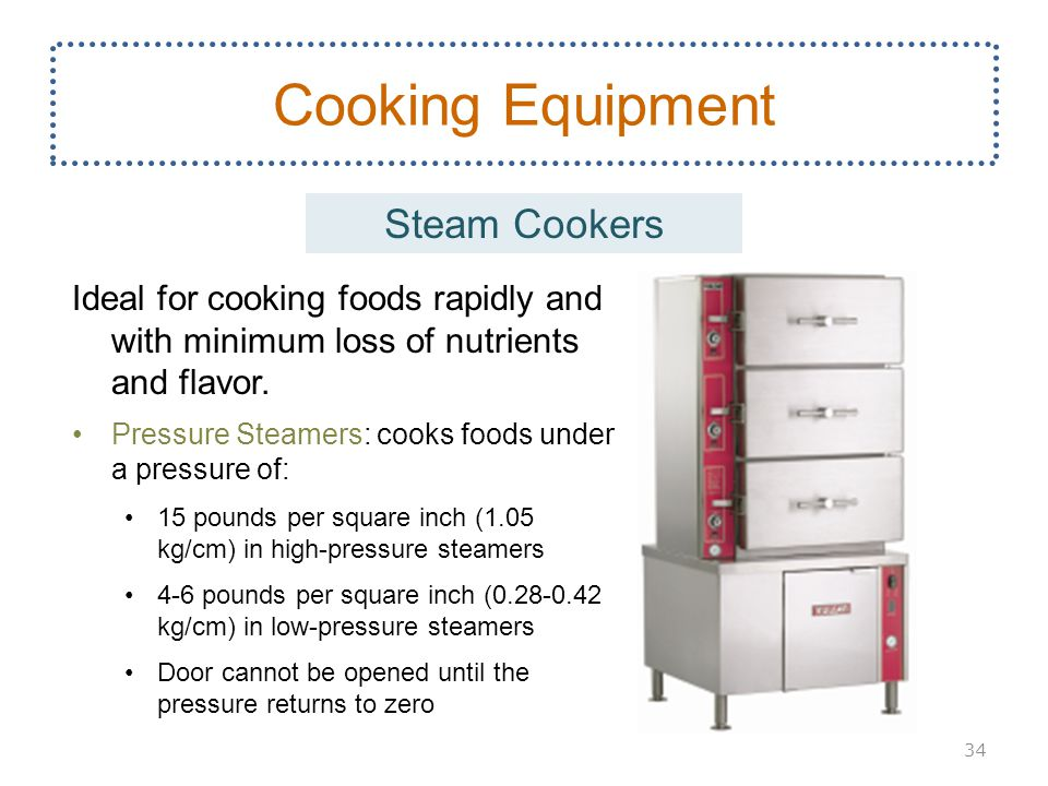 Cooking Equipment Steam Cookers