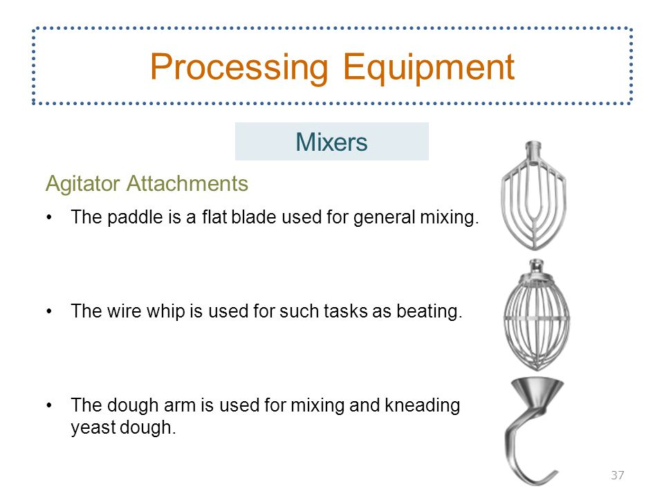 Processing Equipment Mixers Agitator Attachments