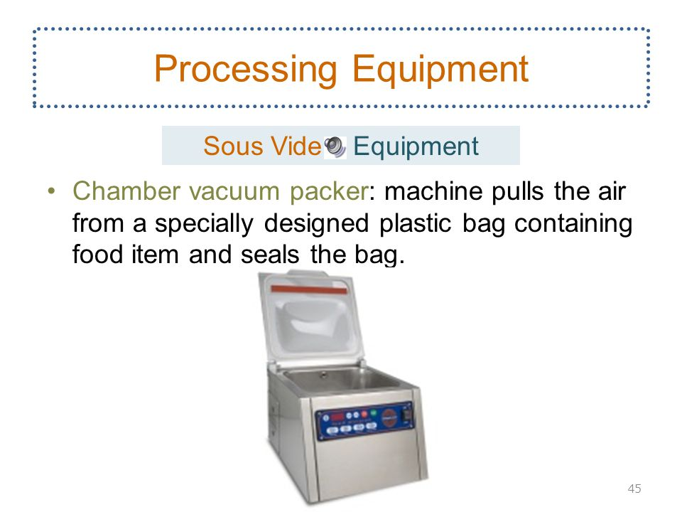 Processing Equipment Sous Vide Equipment