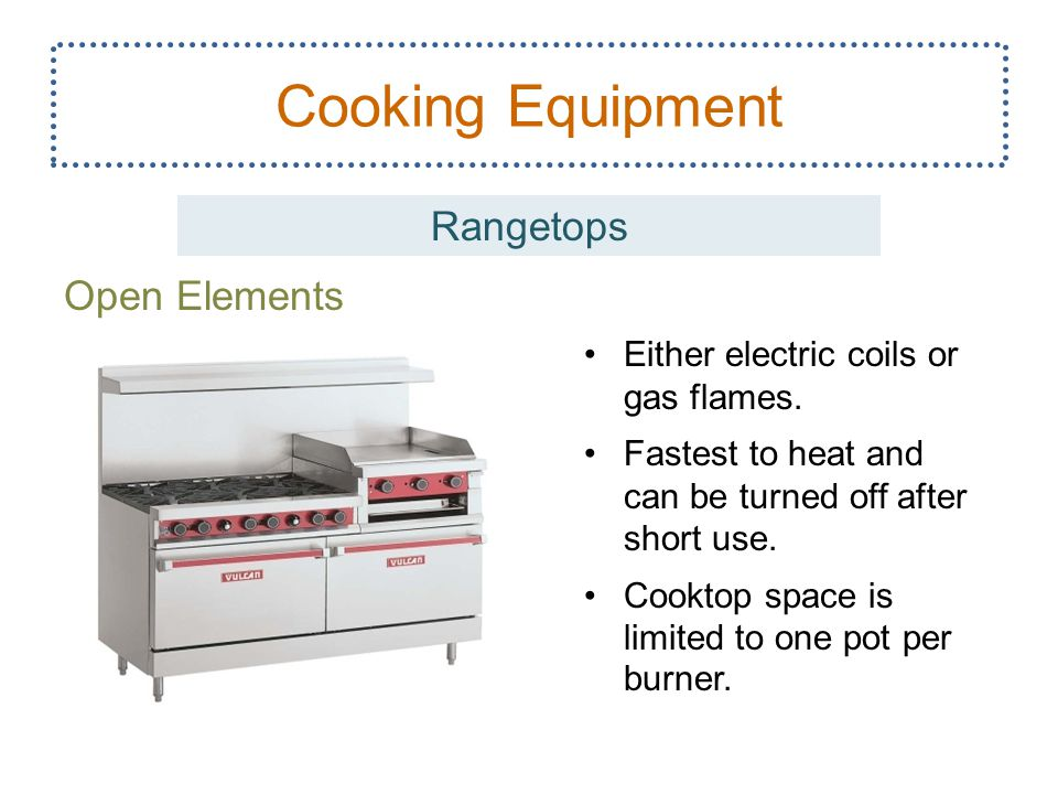 Cooking Equipment Rangetops Open Elements