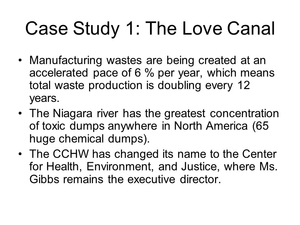 Case Study 1: The Love Canal