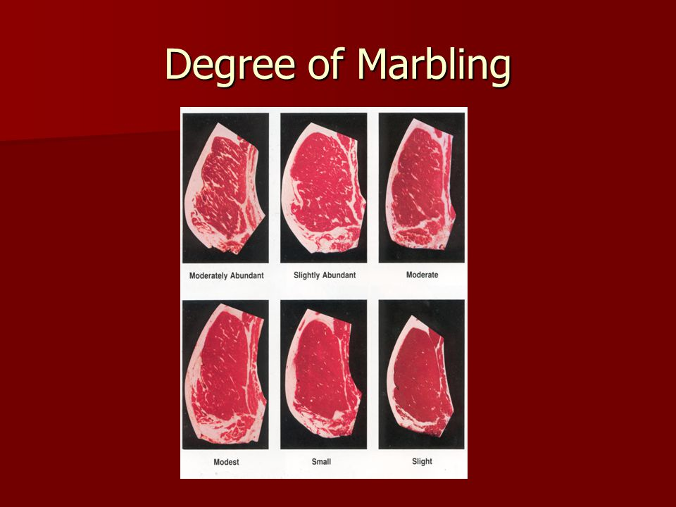 Degree of Marbling