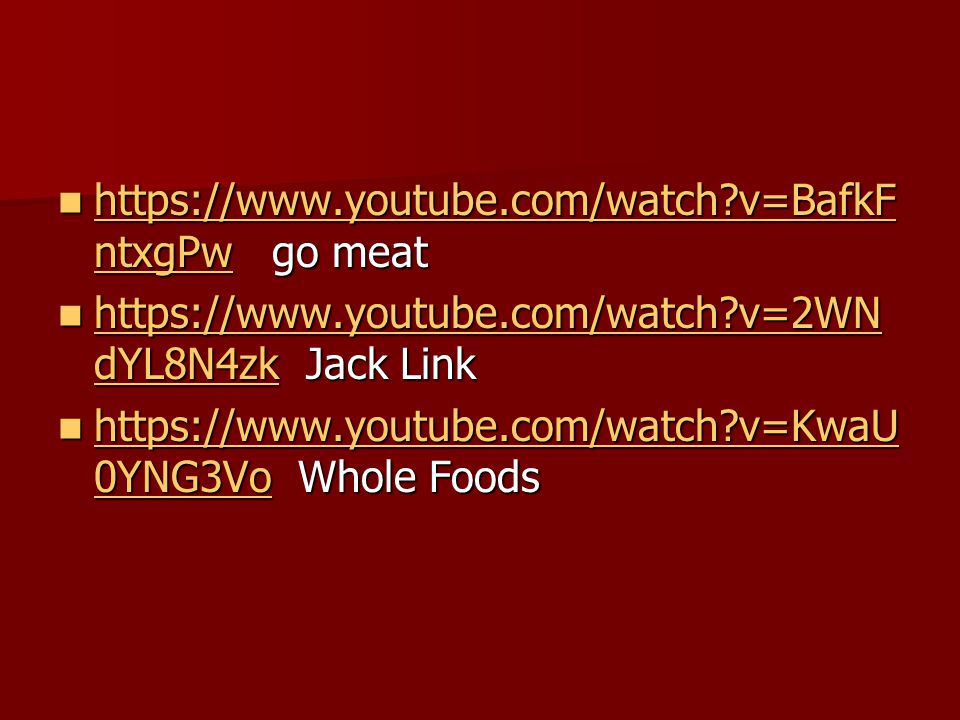 https://www.youtube.com/watch v=BafkFntxgPw go meat