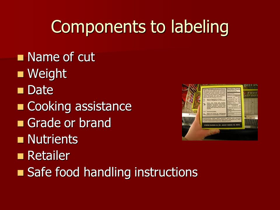 Components to labeling