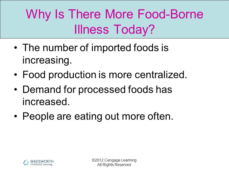 Why Is There More Food-Borne Illness Today