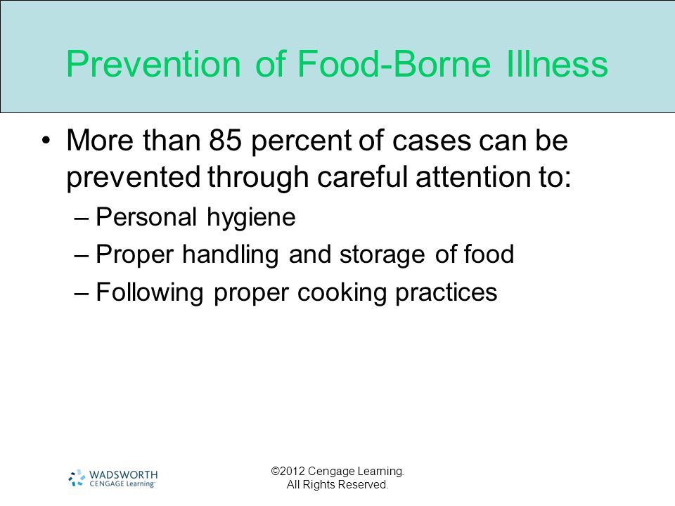 Prevention of Food-Borne Illness