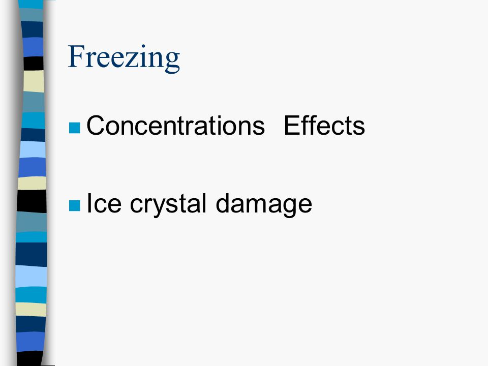 Freezing Concentrations Effects Ice crystal damage