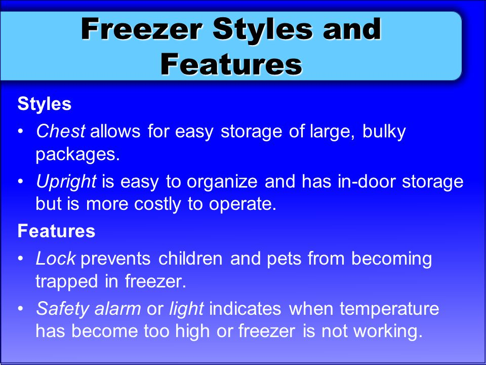 Freezer Styles and Features