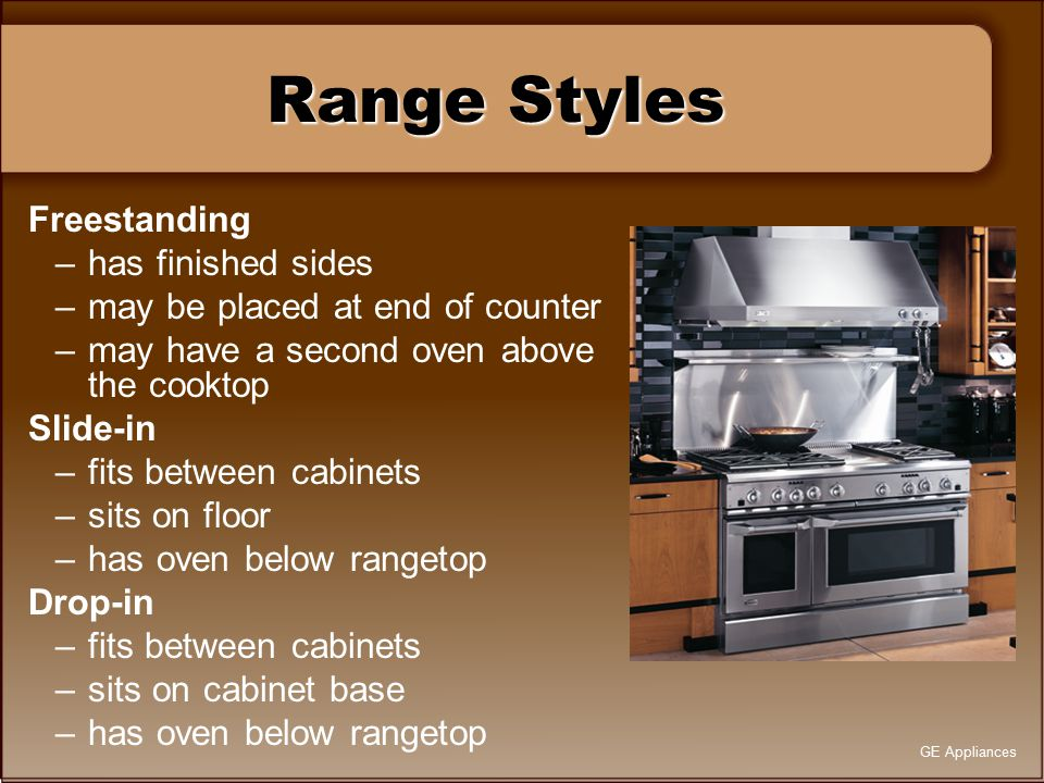 Range Styles Freestanding has finished sides