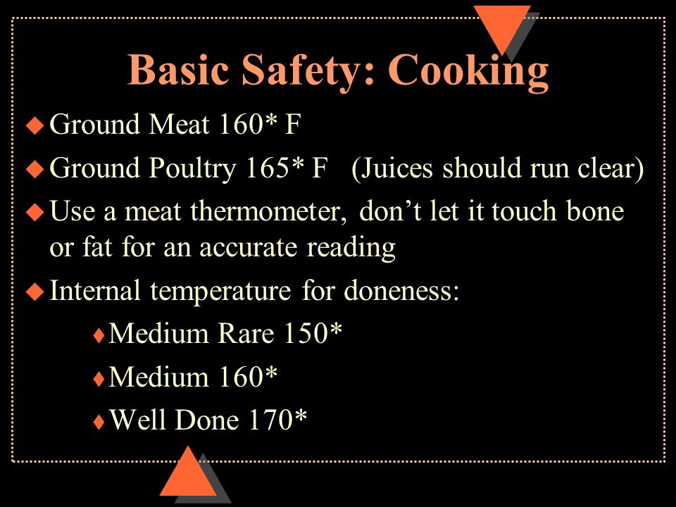 Basic Safety: Cooking Ground Meat 160* F