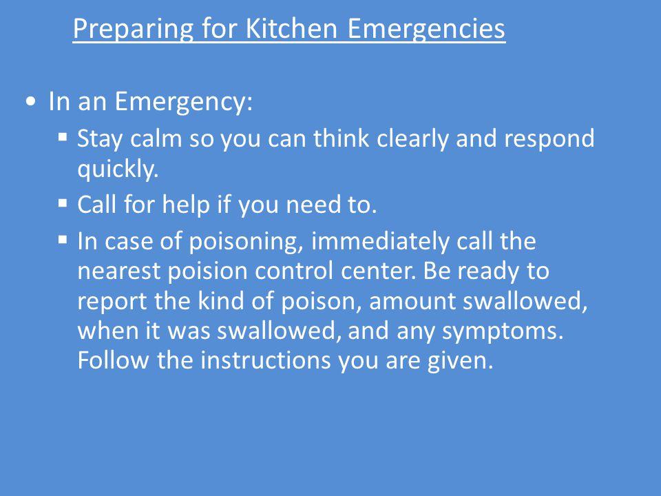 Preparing for Kitchen Emergencies