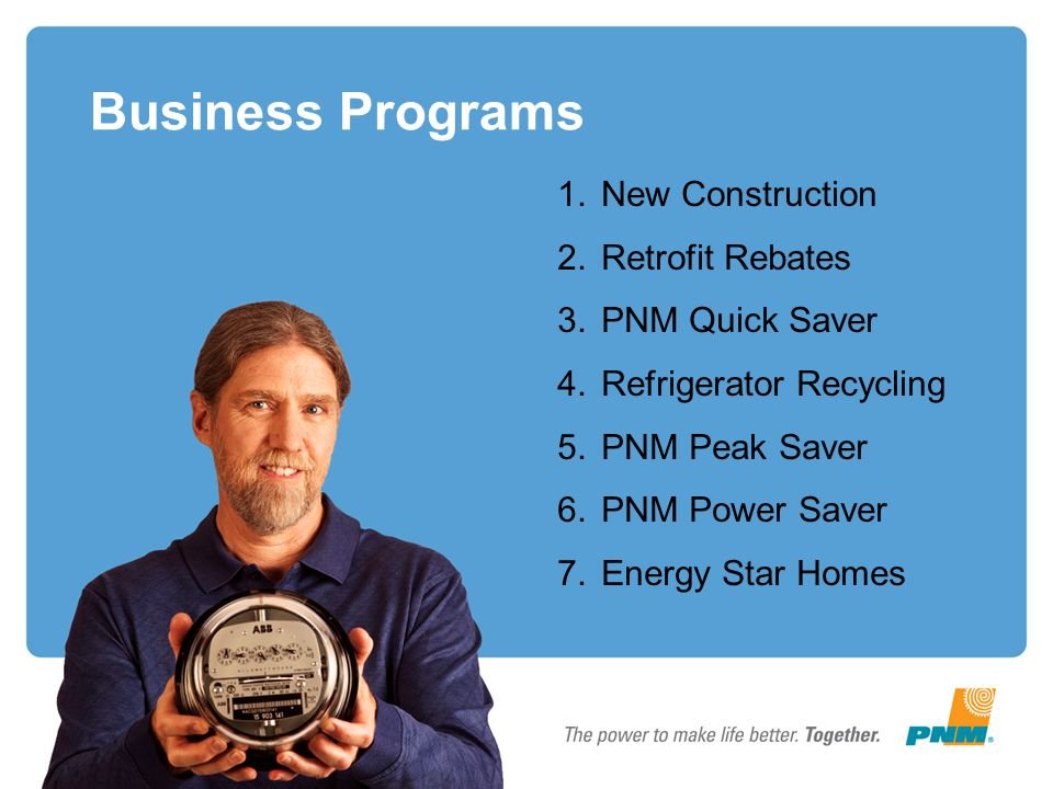 Business Programs New Construction Retrofit Rebates PNM Quick Saver
