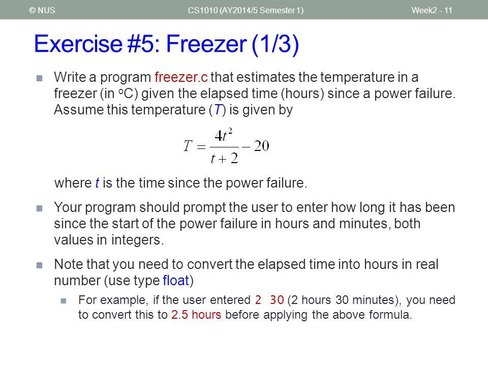 Exercise #5: Freezer (1/3)