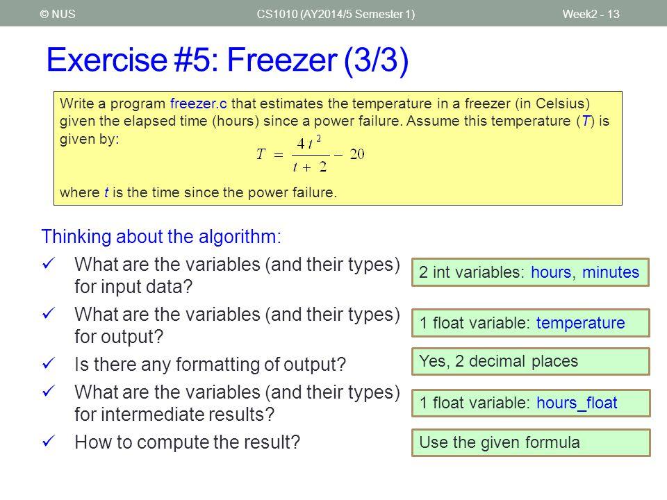 Exercise #5: Freezer (3/3)