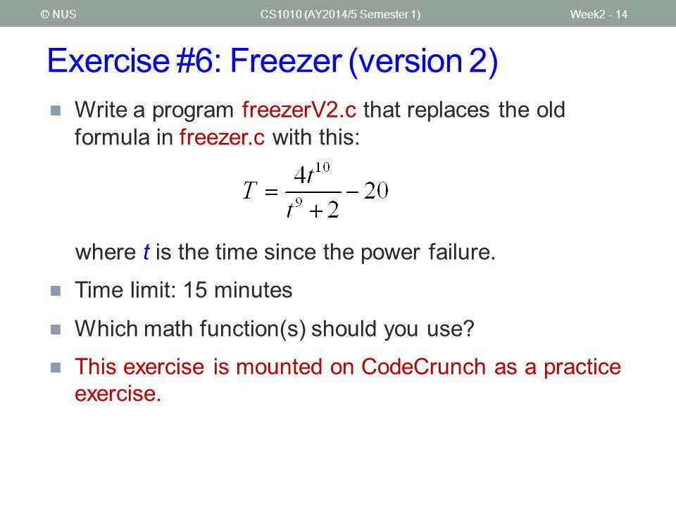 Exercise #6: Freezer (version 2)