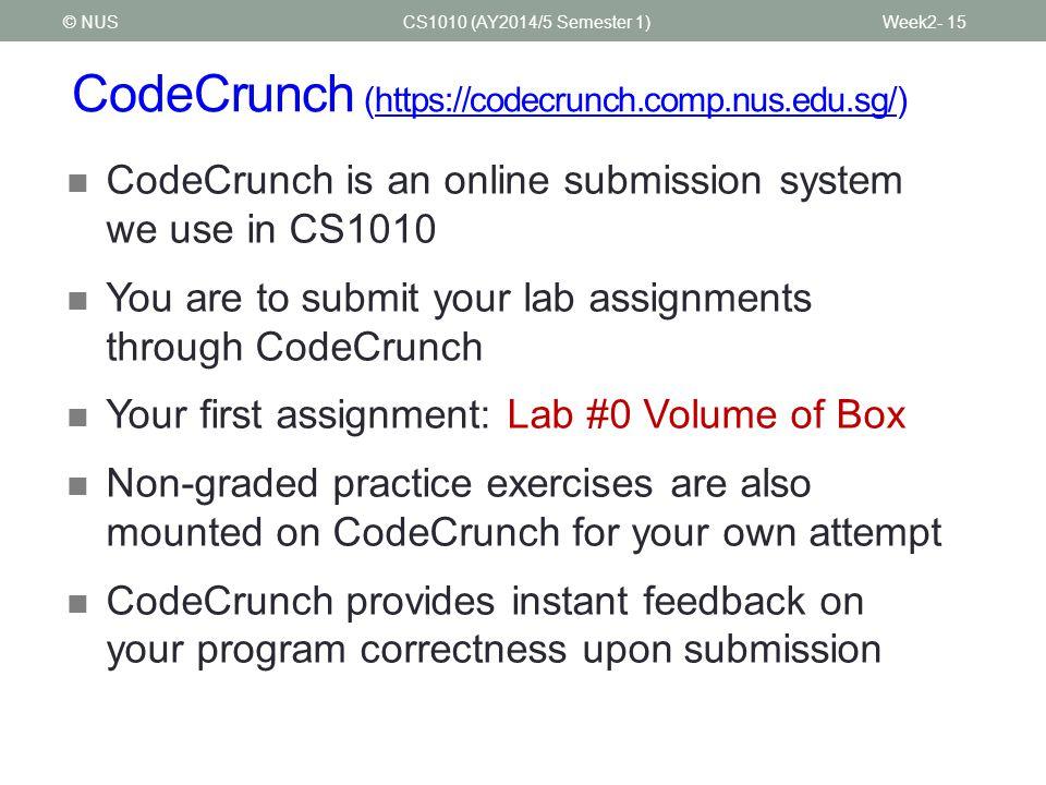 CodeCrunch (https://codecrunch.comp.nus.edu.sg/)