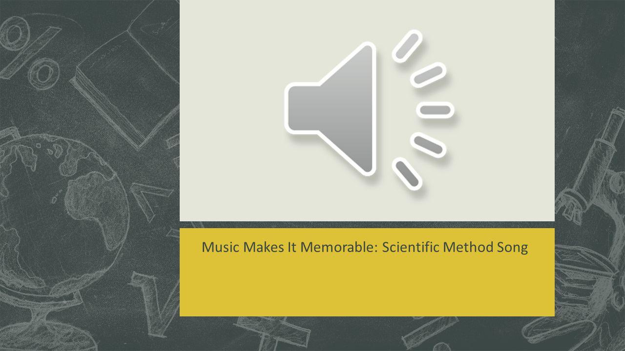 Music Makes It Memorable: Scientific Method Song