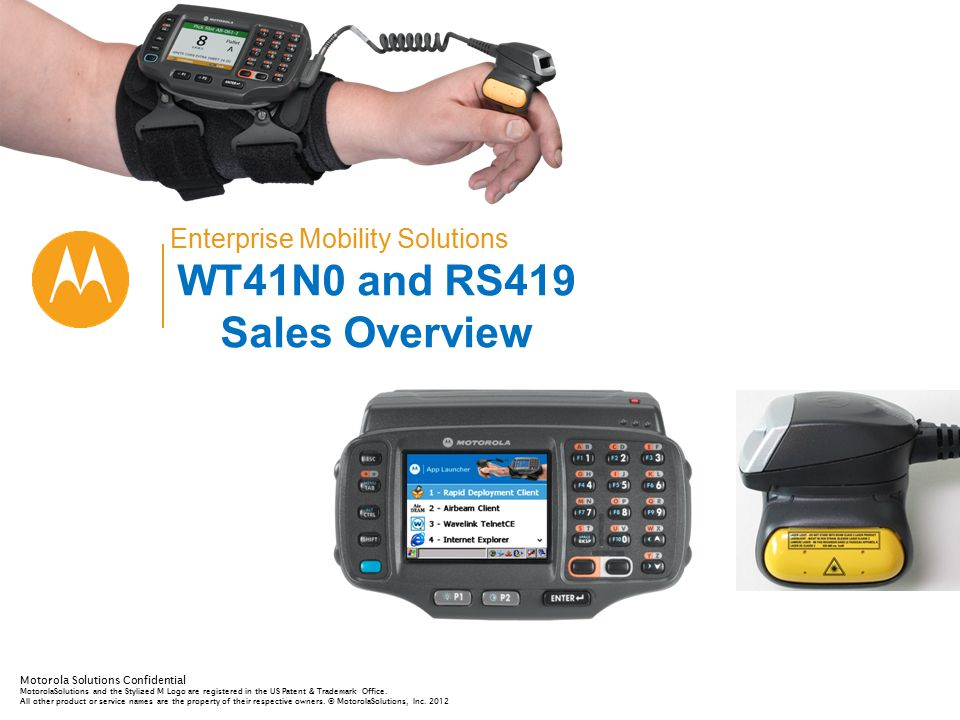 WT41N0 and RS419 Sales Overview