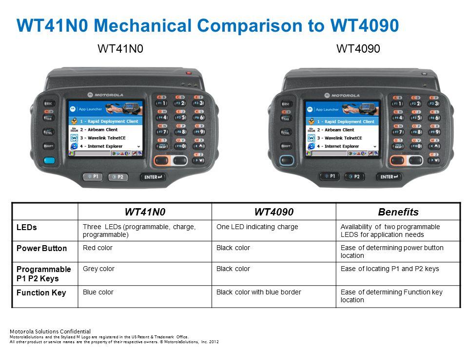 WT41N0 Mechanical Comparison to WT4090