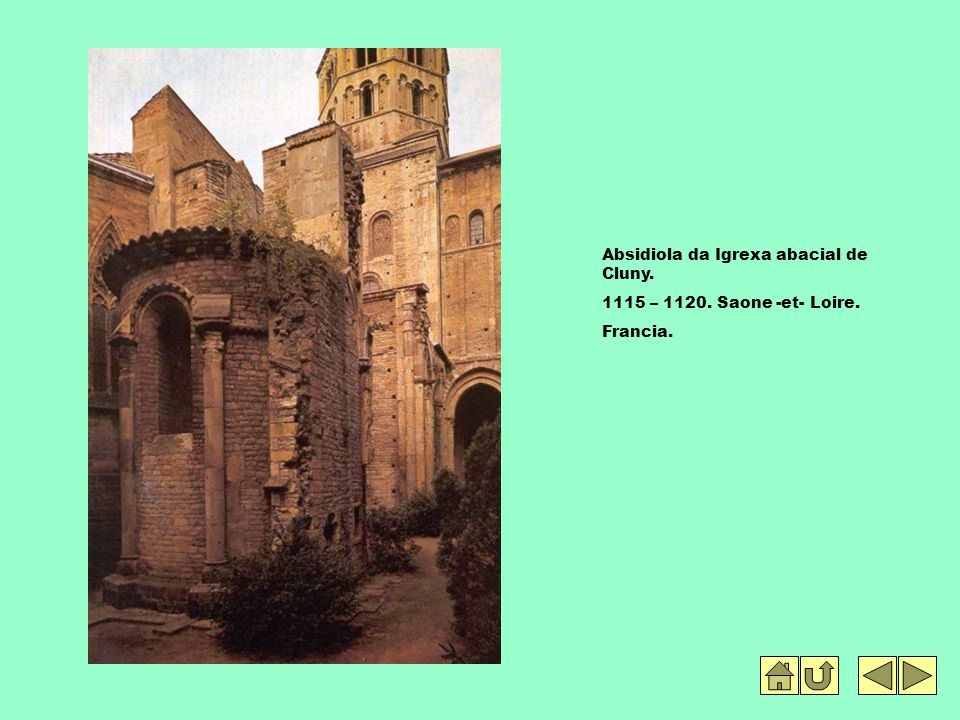 Absidiola da Igrexa abacial de Cluny.