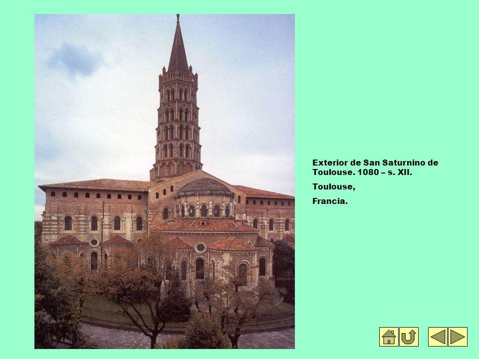 Exterior de San Saturnino de Toulouse. 1080 – s. XII.