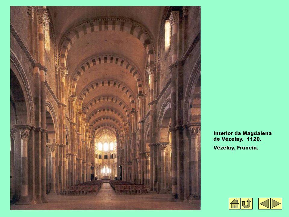 Interior da Magdalena de Vézelay. 1120.