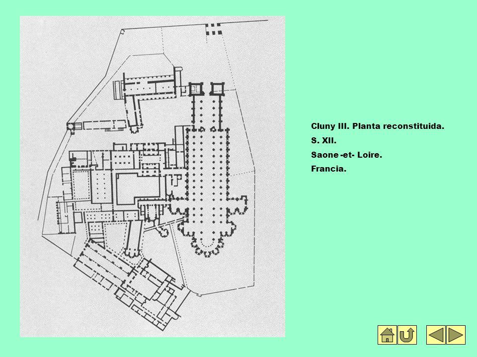 Cluny III. Planta reconstituida.