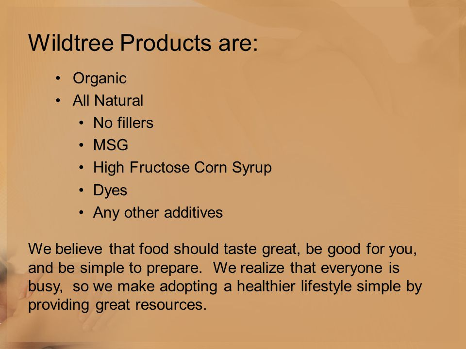 Wildtree Products are: