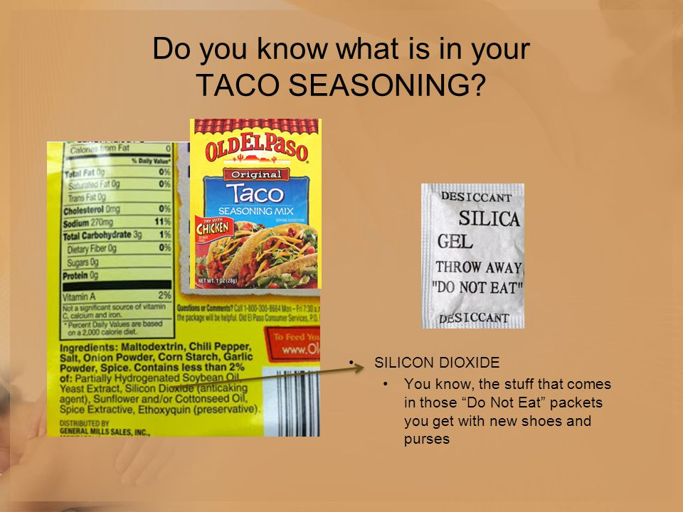 Do you know what is in your TACO SEASONING