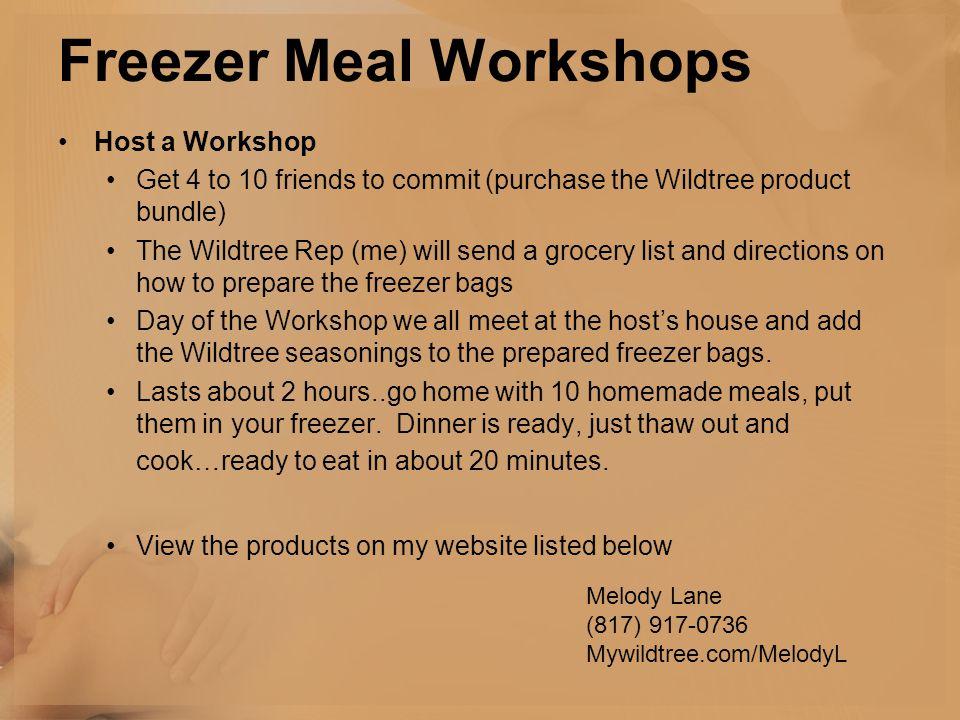Freezer Meal Workshops