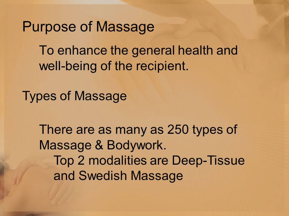 To enhance the general health and well-being of the recipient.