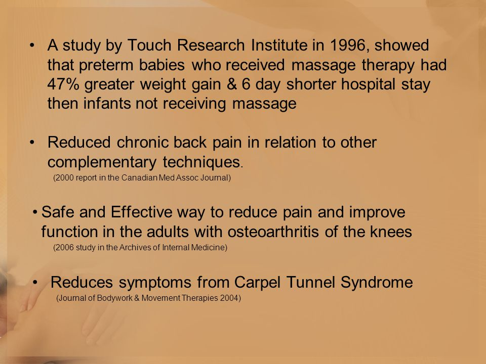 Reduces symptoms from Carpel Tunnel Syndrome