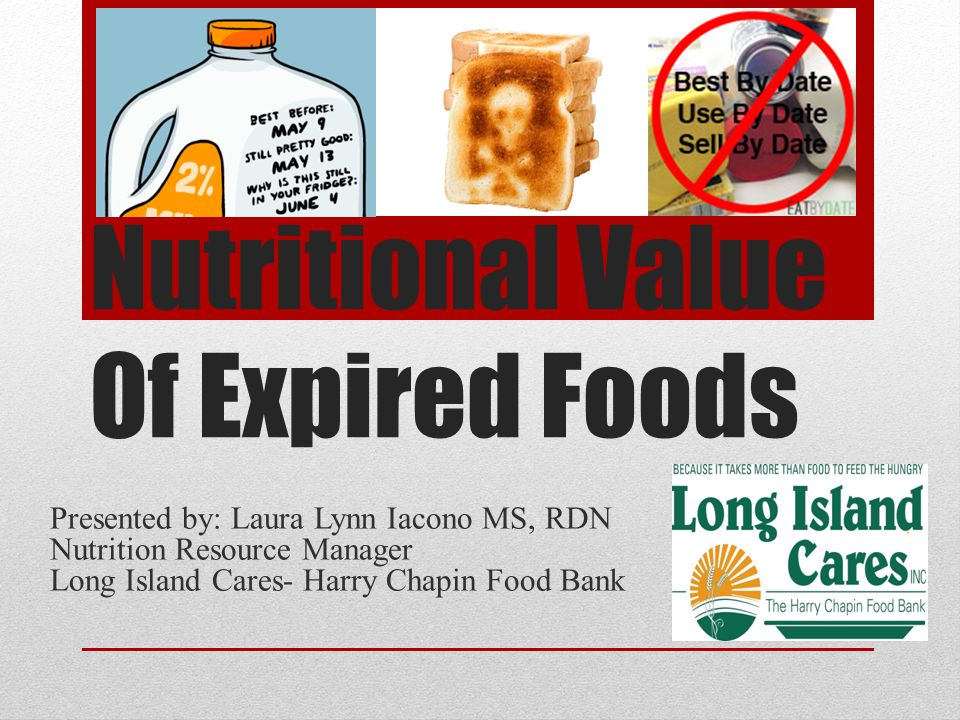 Nutritional Value Of Expired Foods