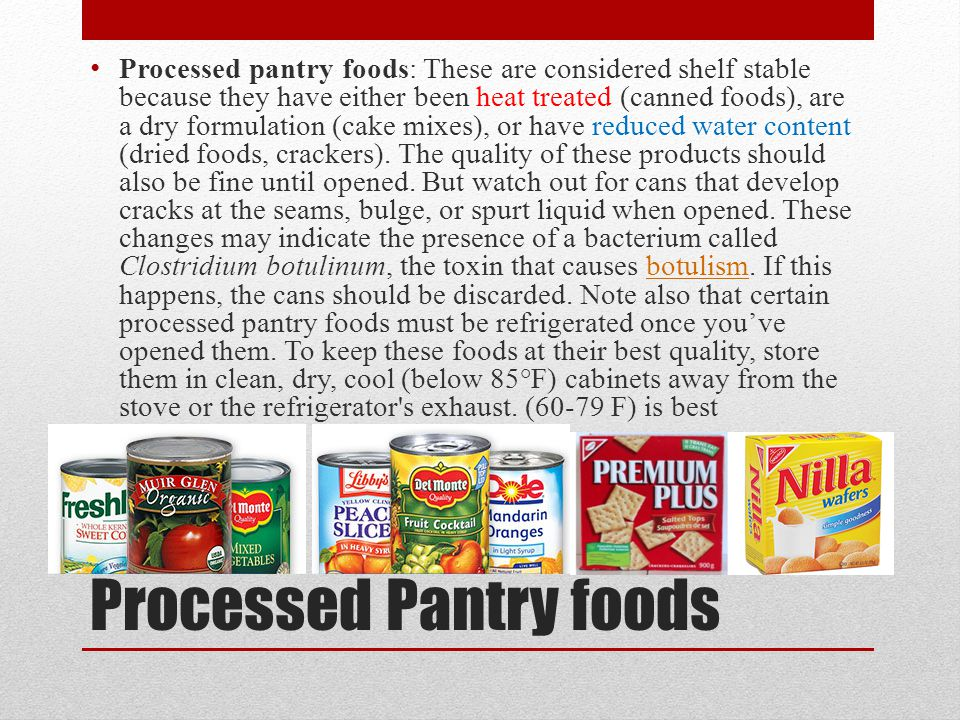 Processed Pantry foods