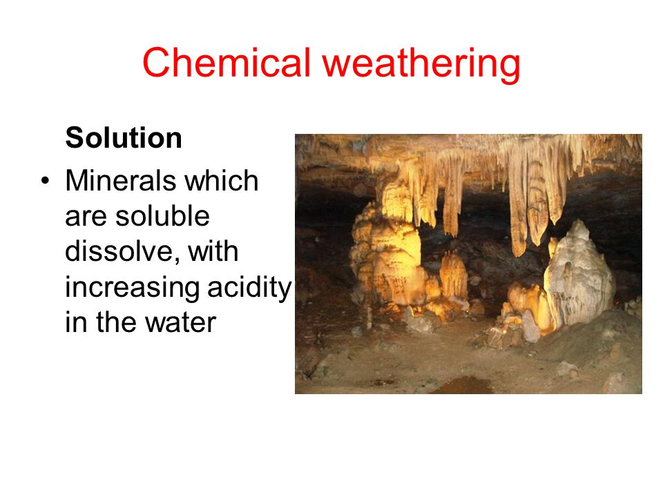 Chemical weathering Solution