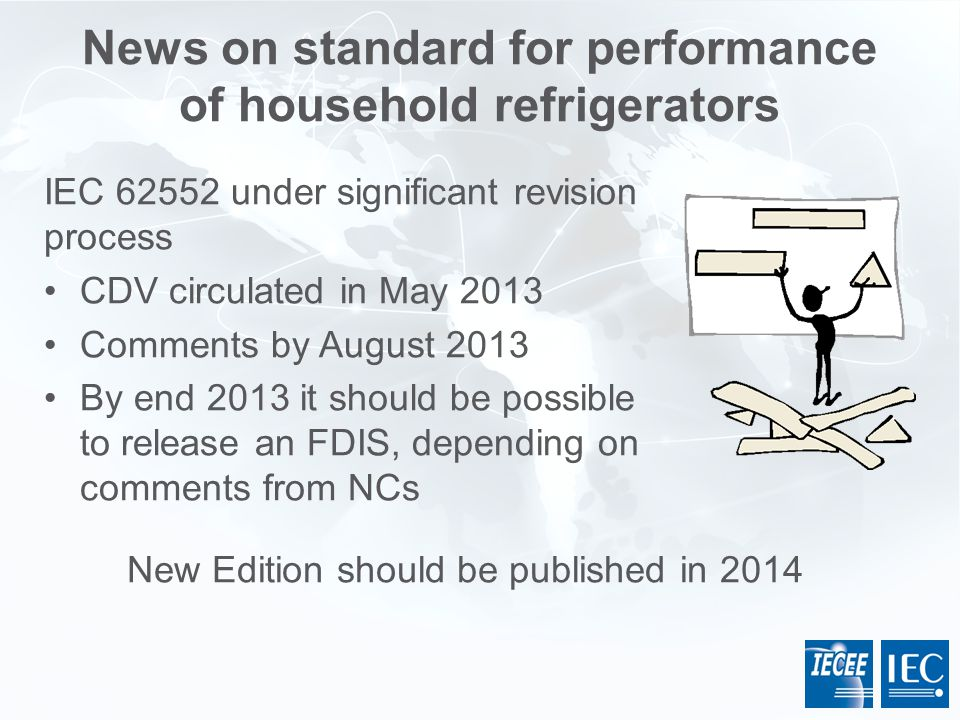 News on standard for performance of household refrigerators