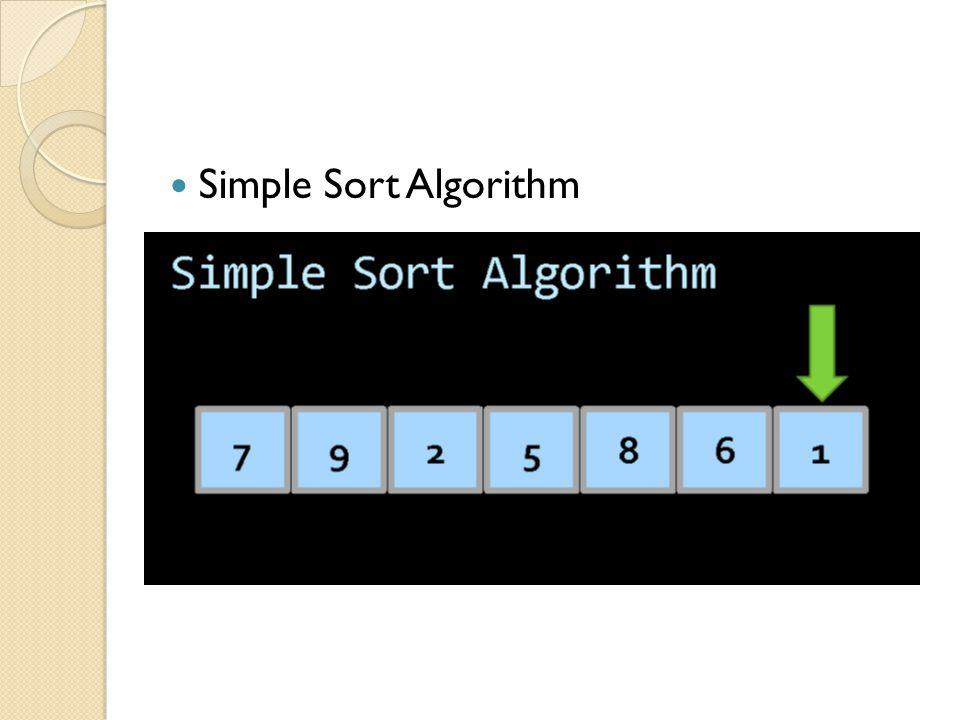 Simple Sort Algorithm