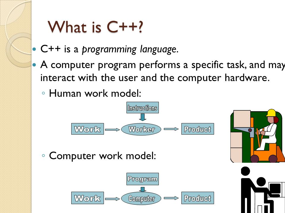 What is C++ Work Worker Product Instructions Work Computer Product