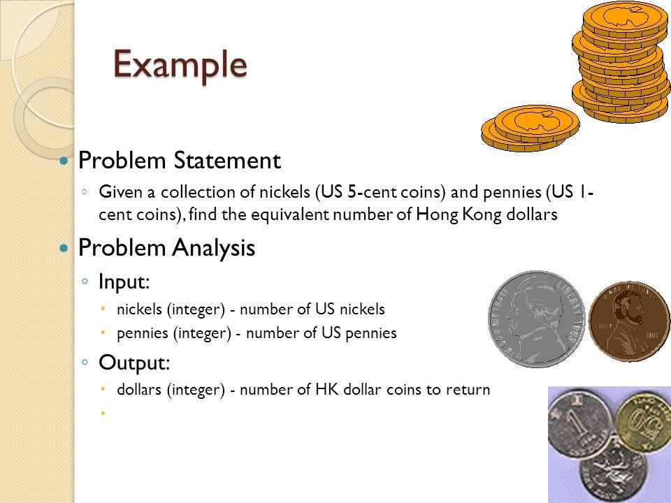 Example Problem Statement Problem Analysis Input: Output: