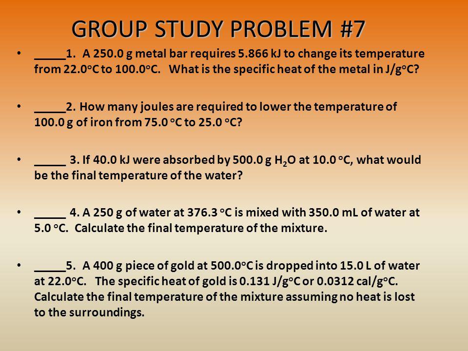 GROUP STUDY PROBLEM #7