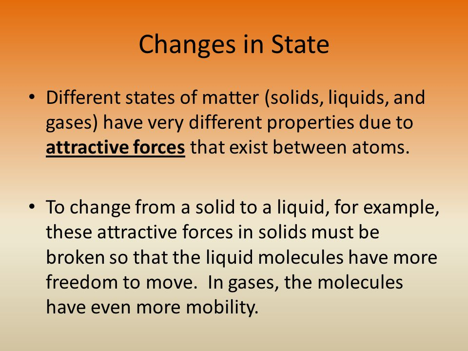 Changes in State