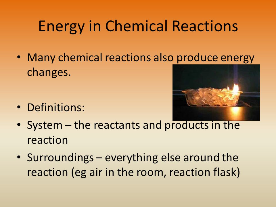 Energy in Chemical Reactions