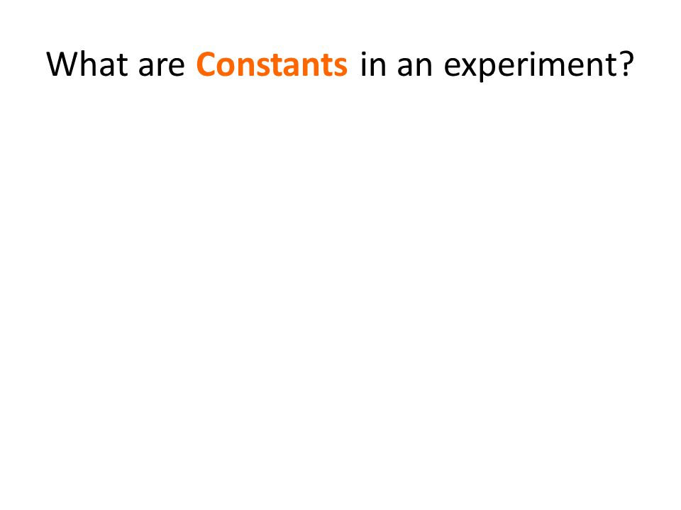 What are Constants in an experiment