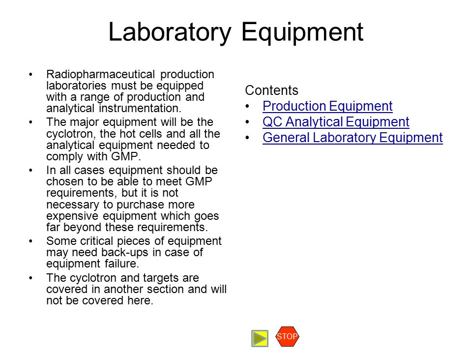 Laboratory Equipment Contents Production Equipment