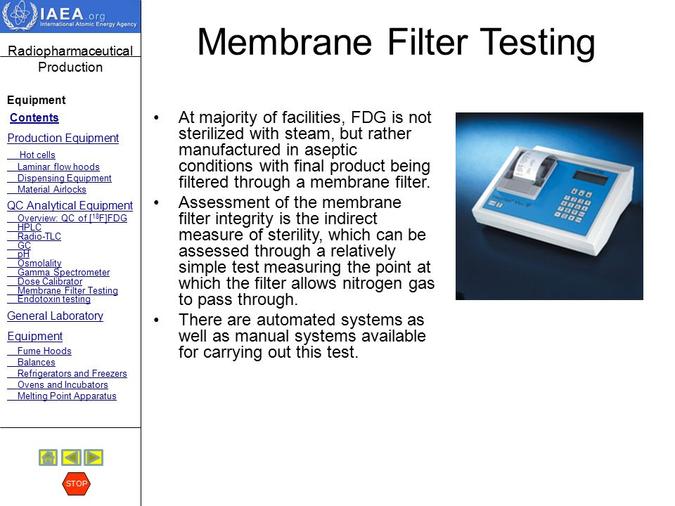 Membrane Filter Testing