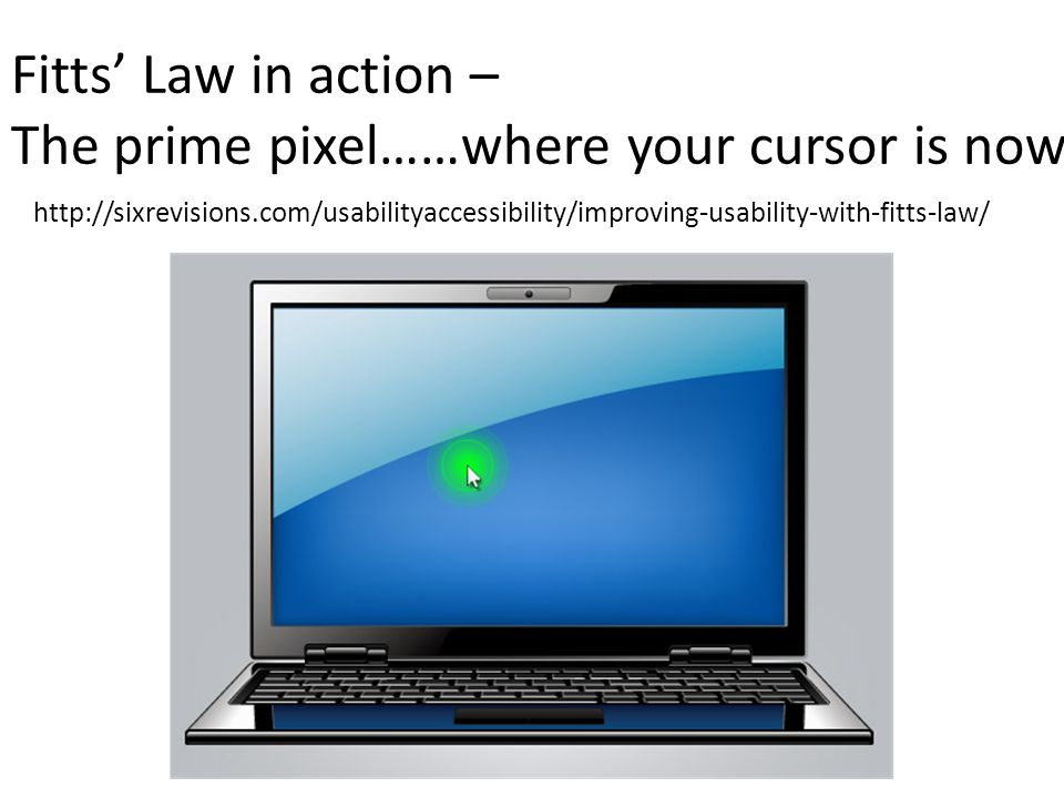 The prime pixel……where your cursor is now