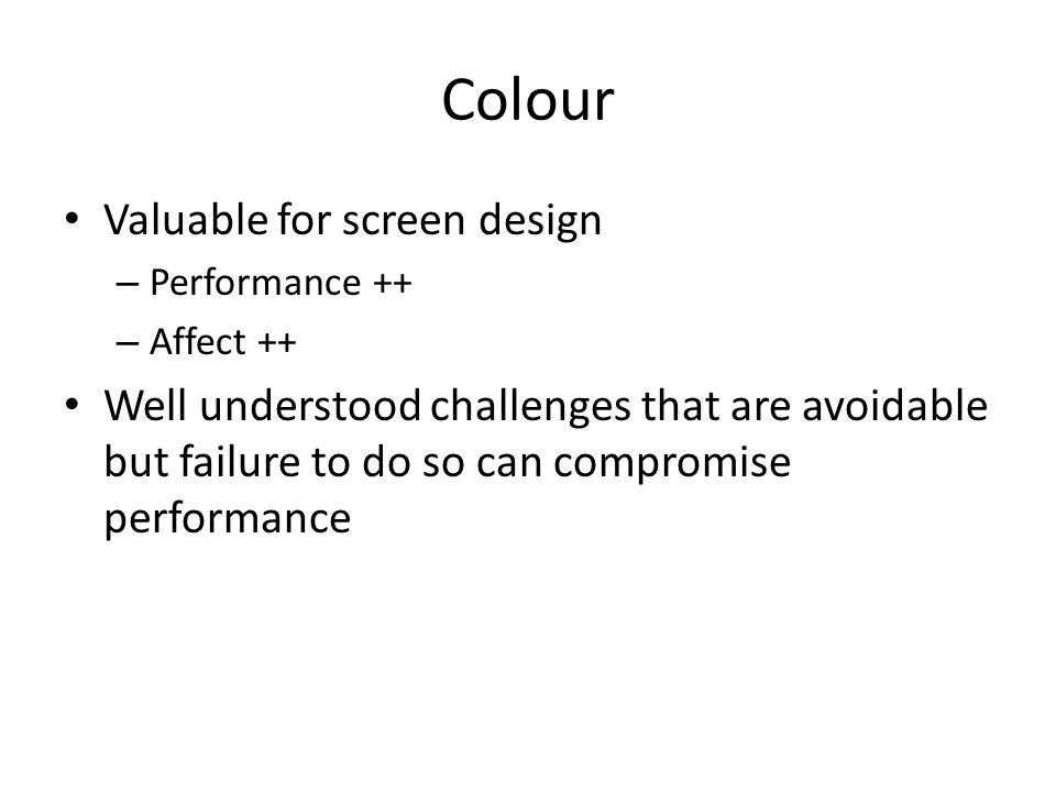 Colour Valuable for screen design