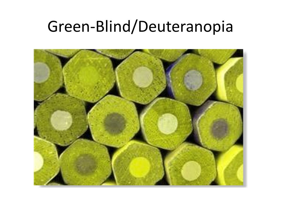 Green-Blind/Deuteranopia